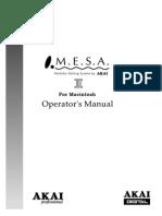 MESA2 Mac Manual