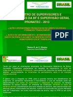 Orientacao de Acoes Pedagogicas e Insercao SocioProfissional Da SUPERVISaO GERAL PRONATEC 2013