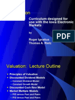 Curriculum Designed for Use With the Iowa Electronic Markets