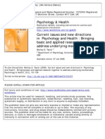 1. New Direction in Health Psychology 2008