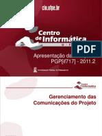 Gereciamento de Comunicacao - 2011