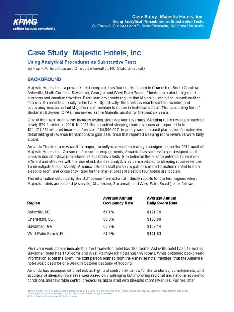 kpmg case study majestic hotels