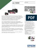 Epson Stylus Photo 1500W Brochures 1