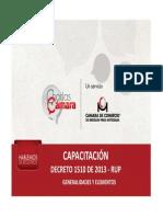 Capacitacion Rup Decreto 1510 de 2013