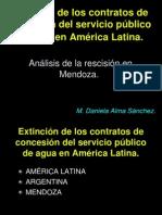 Extinción de Los Contratos de Concesión Del Servicio Público de Agua en América Latina