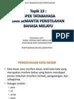 Aspek Tatabahasa Dan Semantik Peristilahan Bahasa Melayu