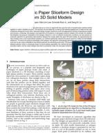 Automatic Paper Sliceform Design for 3D Models