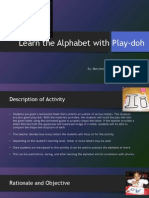 learn the alphabet with play-doh