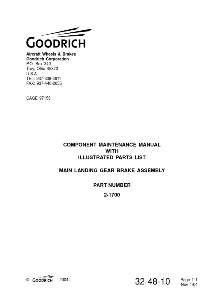brake assembly 32 48 10 leak valve rh scribd com bf goodrich ndt manual bf goodrich ndt manual