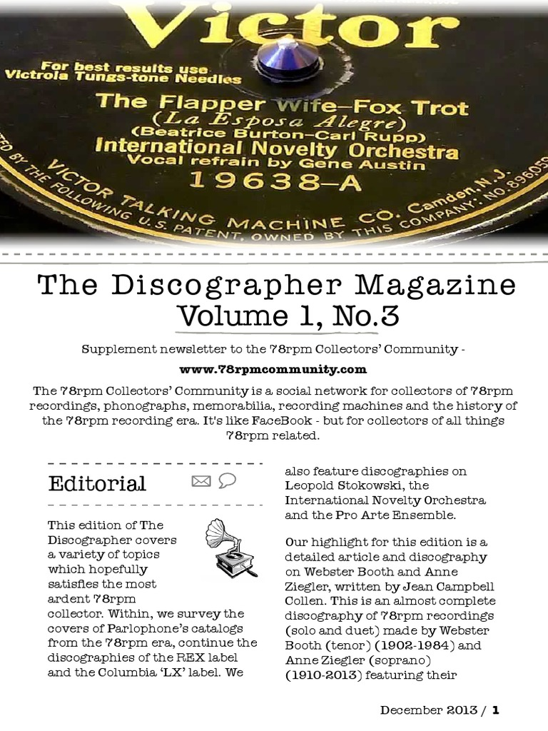 The Discographer - December 2013 -3 | Gramophone Record | Performing Arts