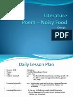 Literature -Poem ~ Noisy Food