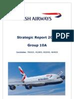 British Airways Strategic Plan