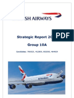 British Airways Strategic Plan