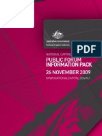 National Capital Authority Corporate Public Forum Information Pack - 26 November 2009