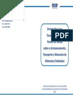 Cartilha ABIA - Orientaçoes Para Transportadores e Ptos Armaz. Transp. e Manuseio Alimts