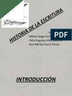 =) historia de la escritura