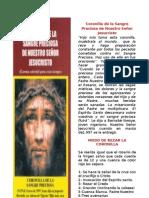 Devoción a la Preciosísima Sangre  de Nuestro Señor Jesucrist1