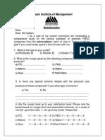 Questionnaire m