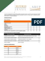 Critério de Classificação Econômica No Brasil