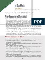 Pre Departure Checklist