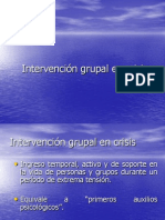 Intervención Grupal en Crisis