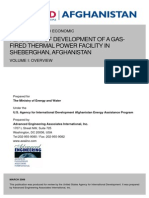 1 Feasibilty Study of Development of a Gas Fired Termal Power Facility in Sheberghan Volume 1