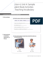 Activities for Teaching Vocabulary