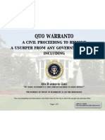 Quo Warranto to Remove Obama From Office