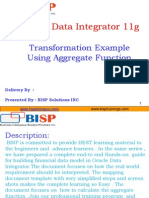 "Oracle Data Integrator ""Aggregate Function Transformation"""
