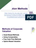 Valuation Methods (2010)