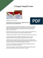Umar Syarif Enggan Tampil Di Asian Games