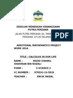 Add Math 2014 CALCULUS