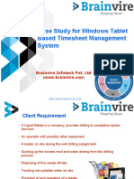 Case Study for Windows Tablet Based Timesheet Management System