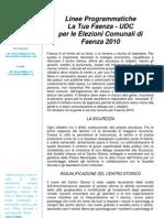 Programma LTF-UDC 2010