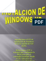 Instalcion de Windows Xp