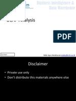 Pertemuan-09 OLAP Analysis