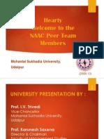 Naac Peer Team Visit at Mlsu