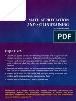 Math Appreciation and Skills Training