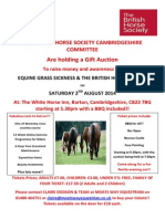 BHS Cambs Gift Auction
