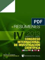 Libro de Resumenes - IV Congreso Internacional (1)