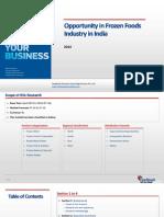 Opportunity in Frozen Foods Industry in India_Feedback OTS_2014