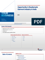 Opportunity in Readymade Garment Industry in India_Feedback OTS_2014