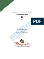 Artficial Inteligence Notes