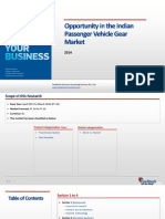 Opportunity in the Indian Passenger Vehicles Gear Market_Feedback OTS_2014