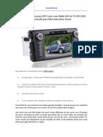 Dicas de Compras Para GPS Carro Com Radio AUX in TV GPS DVD Bluetooth Para Mercedes Benz Smart