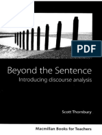 0868715 30CE7 Thornbury s Beyond the Sentence Introducing Discourse Analys