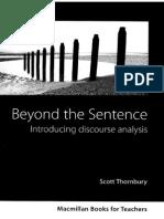 0868715 30CE7 Thornbury s Beyond the Sentence Introducing Discourse Analys