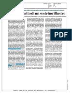 Carlo Bo, ritratto di un sestrino illustre - Il Secolo XIX del 10 luglio 2014