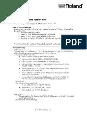 BK-5 System Update Procedure | Computer File | Usb