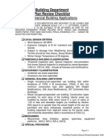 Permitting Procedures Manual- Commercial Plan Review Checklist